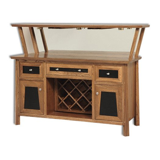 Amish USA Made Handcrafted Vancoover Wine Cabinet sold by Online Amish Furniture LLC