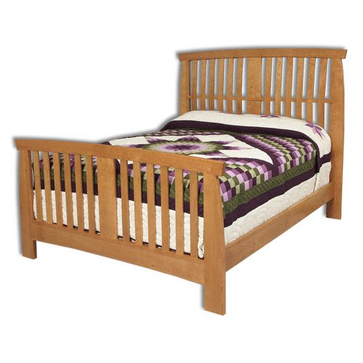 Amish USA Made Handcrafted Grand River Slat Bed sold by Online Amish Furniture LLC