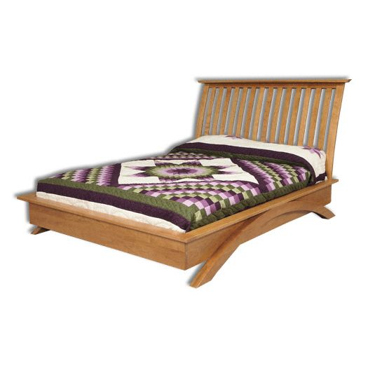 Amish USA Made Handcrafted Grand River Platform Bed sold by Online Amish Furniture LLC