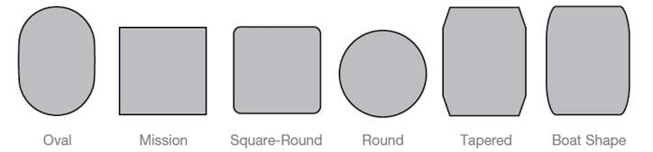 Amish Table Top Shapes