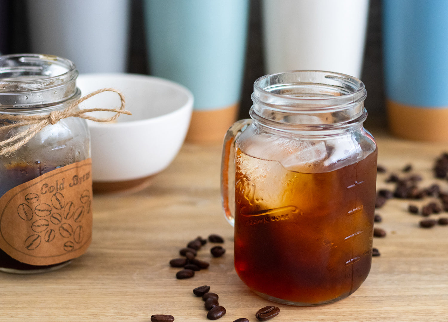 fresh homemade cold brew poured over ice and diluted with a little water since it is concentrated and cold brew has a higher caffeine level