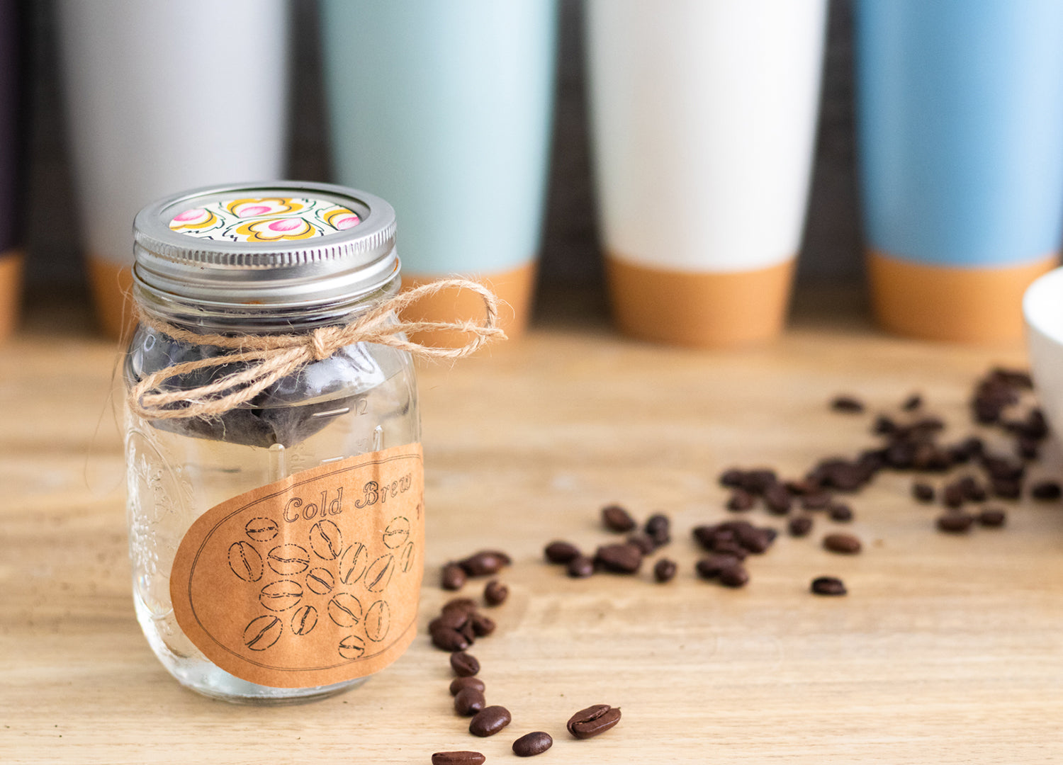 Place the mason jar lid or cover with plastic wrap and store in a cool room or in the fridge