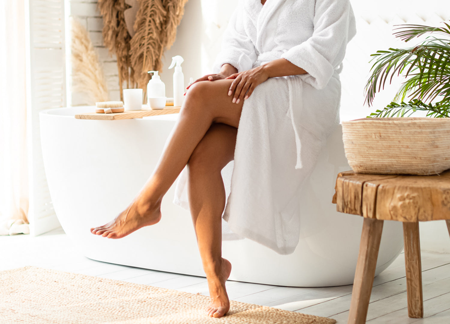 Smooth legs ready for summer after sugar wax hair removal