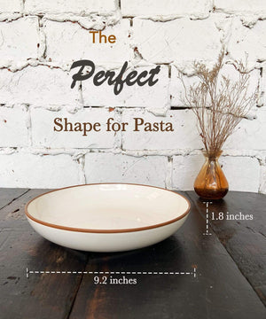 pasta bowls are the perfect shape for pasta, 9 inches with a high edge