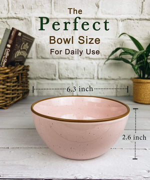 perfect bowl size for daily use, 6 inches wide in pink