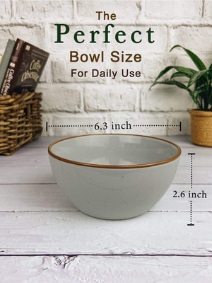 perfect bowl size for daily use, 6 inches wide in earl grey