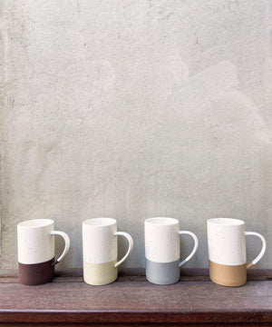 Mora Ceramics set of four coffee cups modern minimal design