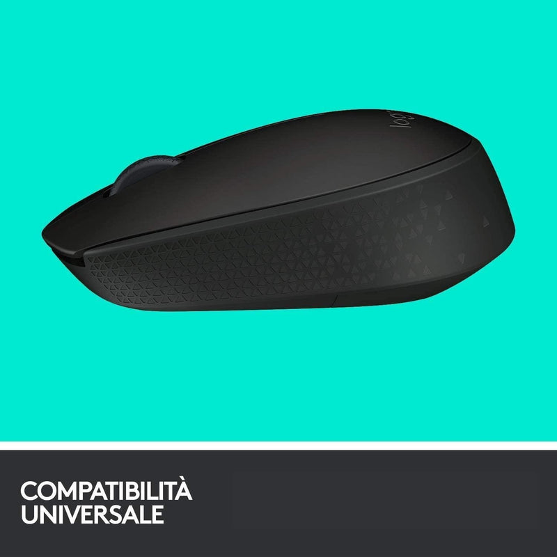 MOUSE WIRELESS M171 BLACK OPTICAL USB