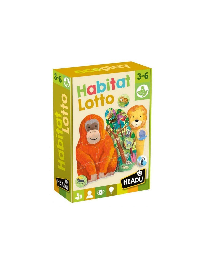 Ecoplay: Habitat Lotto gameside-tech Merchandising.