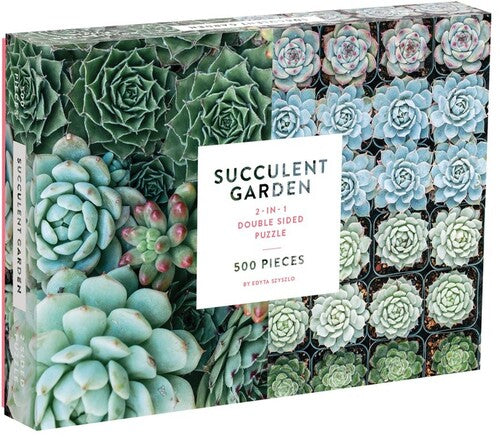 Galison - Succulent Garden 2 Sided 500 Piece Puzzle gameside-tech Merchandising.