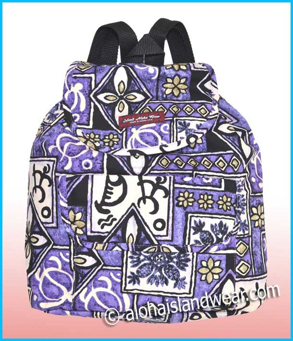 Medium Hawaiian Backpack - 113 Purple