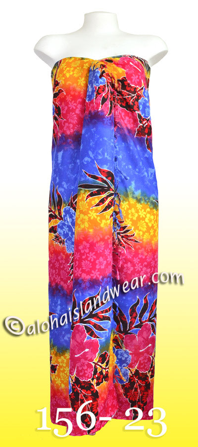 Tropical floral Hawaiian sarong - 156-23