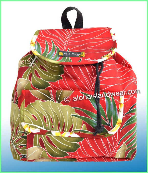 Medium Hawaiian Backpack - 503 Red
