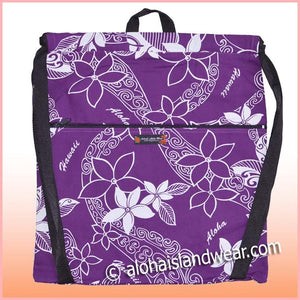 Hawaiian Strap Backpack - 802 Purple