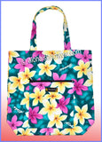 Aloha Tote Bag w/Top Zipper - 901 Teal