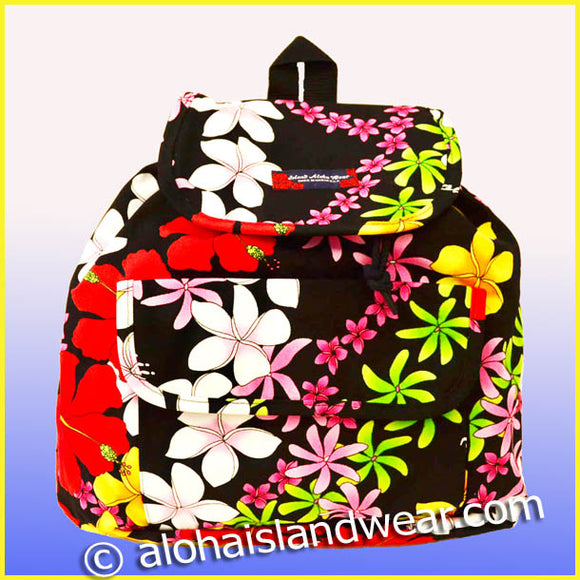 Medium Hawaiian Backpack - 907 Black