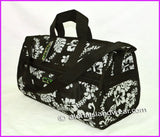 Large Hibiscus Carry on Travel Bag - Black