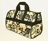 Large Hibiscus Carry on Travel Bag - Cream