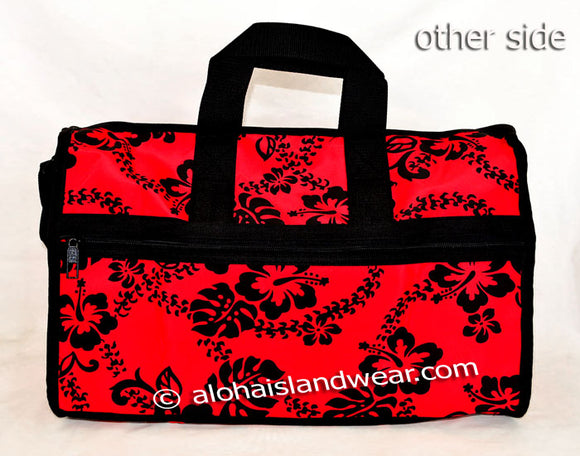 Large Hibiscus Carry on Travel Bag - Red