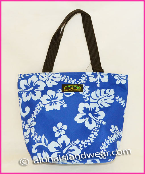 Small Hawaiian Hibiscus Handbag - Blue