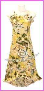 Halau Dress for children - 332 Yellow