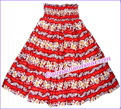Hula Pa'u Skirt - 350 Red