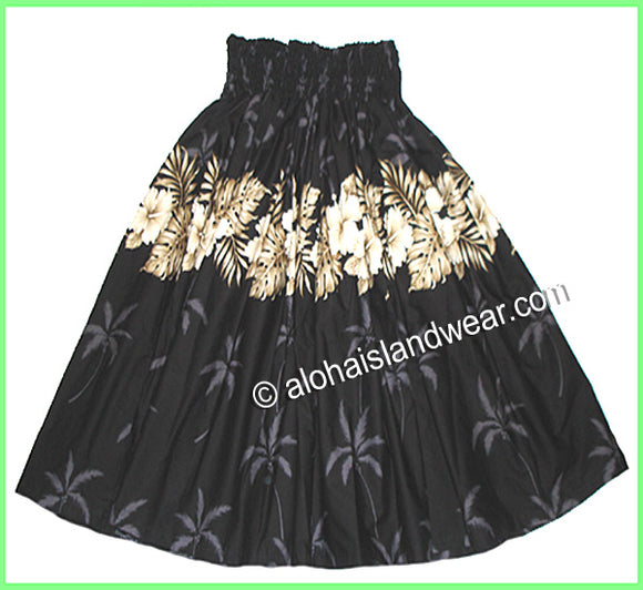 Hula Pa'u Skirt - 412 Black