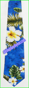 Hawaiian Necktie - 449 Navy