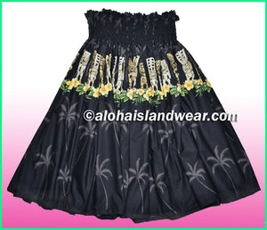 Hula Pa'u Skirt - 451 Black