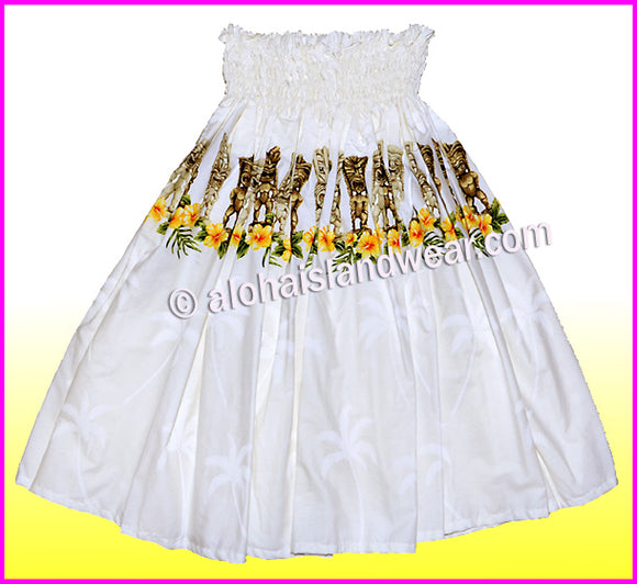 Hula Pa'u Skirt - 451 White