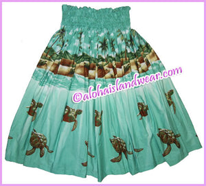Hula Pa'u Skirt - 460 Green