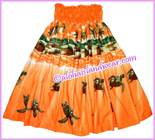 Hula Pa'u Skirt - 460 Orange