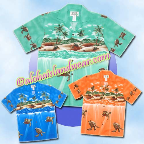 Sea Turtle Hawaiian Shirt - 460