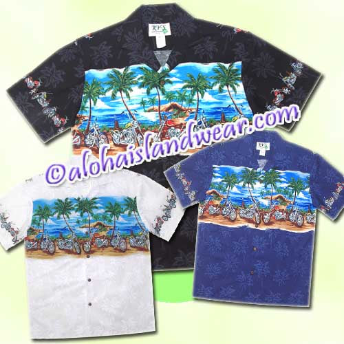 Island Motorcycle Hawaiian Shirt - 462