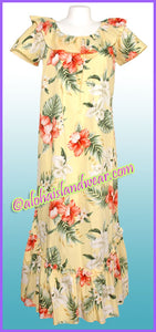 Hawaiian Muumuu Dress - 466 Yellow