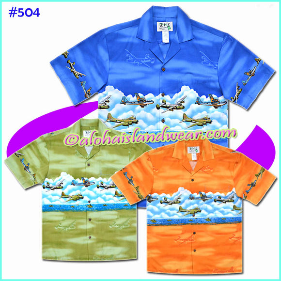 World War 2 Aircraft Hawaiian Shirt - 504