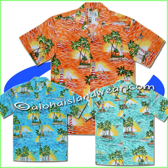 Light-House Hawaiian Shirt - 508