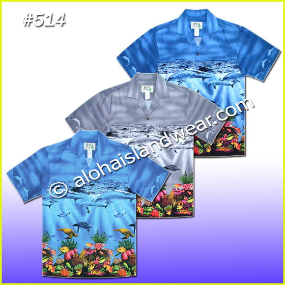 Sea Life Hawaiian Shirt - 514