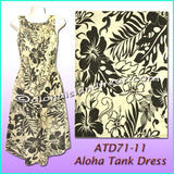 Floral Aloha Tank Dress - Beige/Black