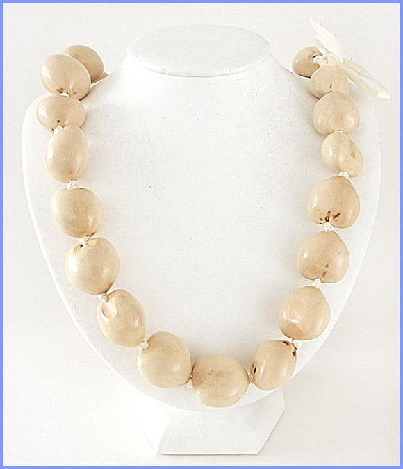 Kukui Nut Necklace - Beige