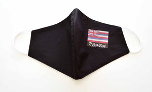 Hawaii flag reversible cloth face mask - 2612 Black