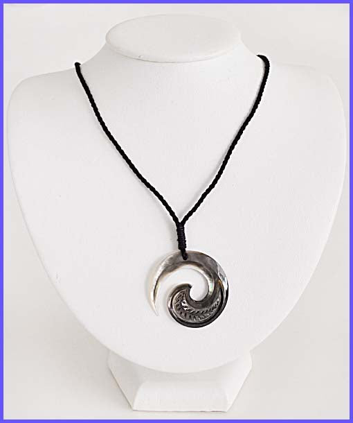 Mother of Pearl Shell W/Cotton Cord Necklace