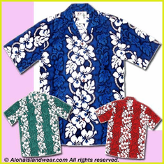 Hibiscus Lei Panel Hawaiian Shirt - 213