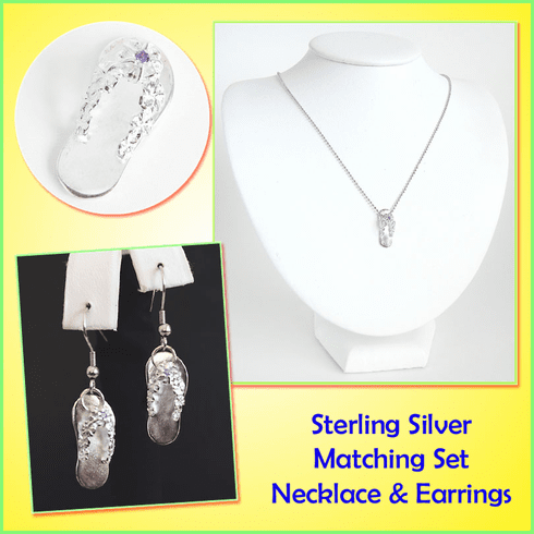 Island Slipper Sterling Silver Matching Set