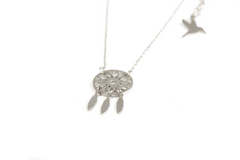 Dreamcatcher Halskjede - Silver fra Farmhousedesign.no