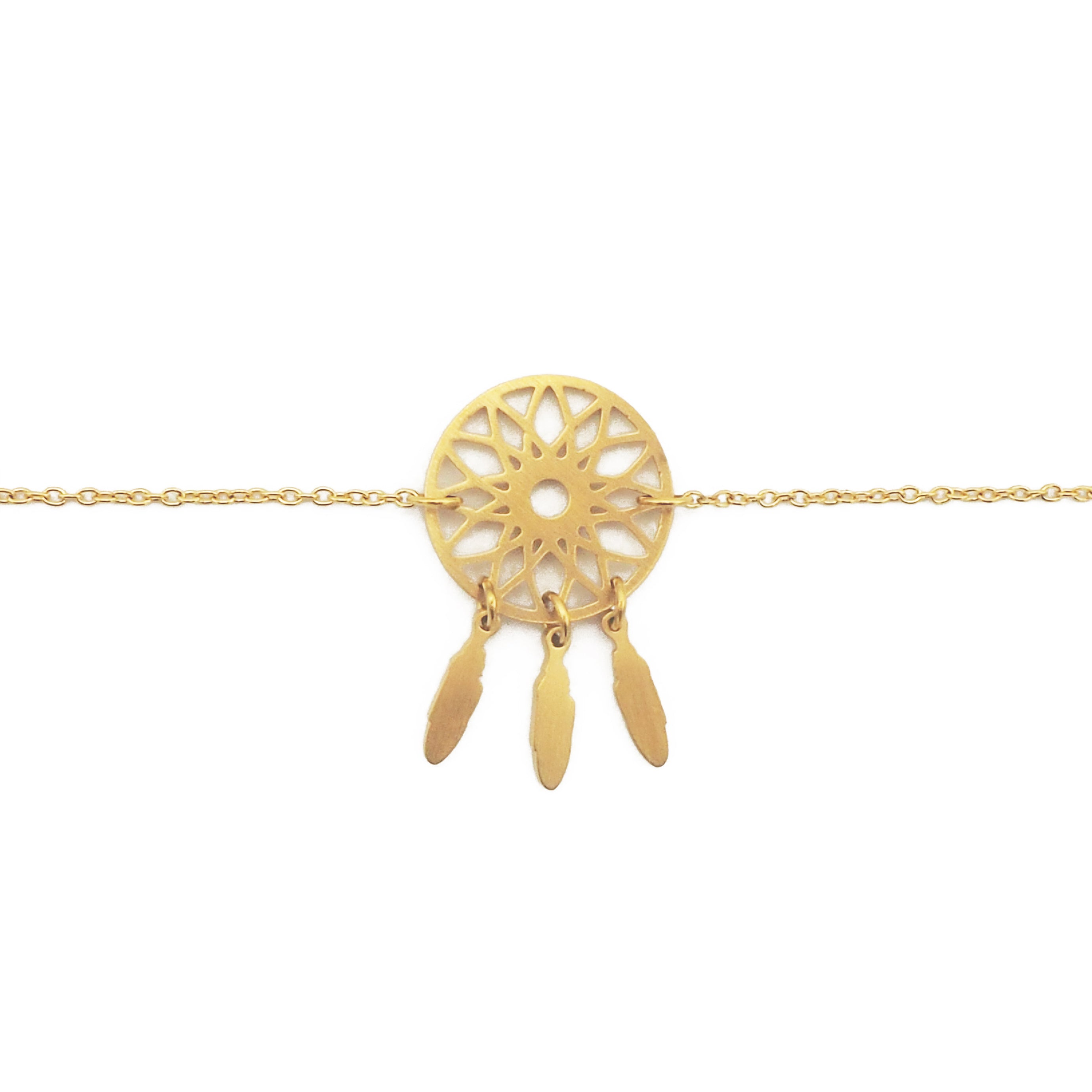 Dreamcatcher armbånd - Gold fra Farmhousedesign.no
