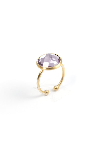 Fanny Adjustable Ring - Plum fra Farmhousedesign.no
