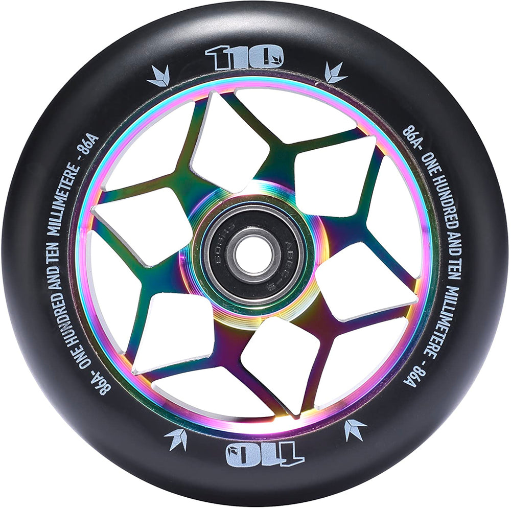 Envy 110mm Diamond Wheel Black/Oil Slick