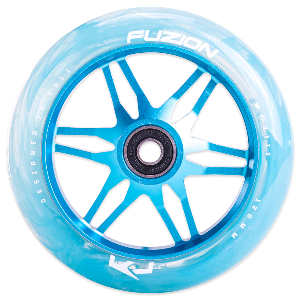Fuzion Ace 120mm Blue Swirl/Blue Wheels