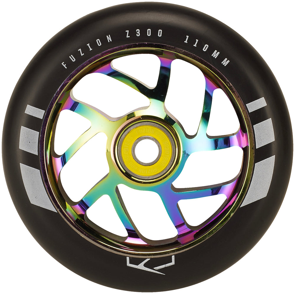Fuzion 110mm Flight Wheel Black/Oil Slick